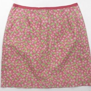 Lilly Pulitzer•WHITE TAG•pineapple & flower• skirt